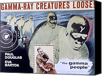 1956 Movies Canvas Prints - The Gamma People, Paul Douglas, Eva Canvas Print by Everett