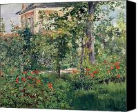 Le Jardin Canvas Prints - The Garden at Bellevue Canvas Print by Edouard Manet