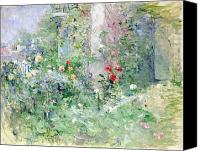 Roses Canvas Prints - The Garden at Bougival Canvas Print by Berthe Morisot