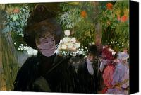 Le Jardin Canvas Prints - The Garden in Paris Canvas Print by Jean Louis Forain