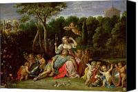 Le Jardin Canvas Prints - The Garden of Armida Canvas Print by David the younger Teniers