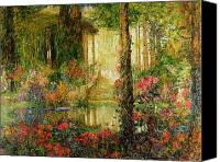 Thomas Canvas Prints - The Garden of Enchantment Canvas Print by Thomas Edwin Mostyn