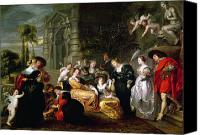 Couples Canvas Prints - The Garden of Love Canvas Print by Peter Paul Rubens