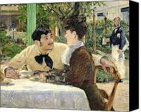 Engagement Painting Canvas Prints - The Garden of Pere Lathuille Canvas Print by Edouard Manet
