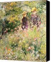 Le Jardin Canvas Prints - The Garden of Roses Canvas Print by Pierre Auguste Renoir