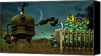 Crescent Moon Canvas Prints - The Gardener Canvas Print by Bob Orsillo