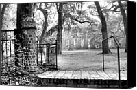 Low Country Canvas Prints - The Gates of the Old Sheldon Church Canvas Print by Scott Hansen