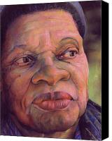 Black Pastels Canvas Prints - The Gaze Of Mother Witt Canvas Print by Curtis James