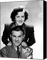 Tv Show Canvas Prints - The George Burns And Gracie Allen Show Canvas Print by Everett