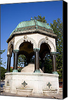 Octagonal Canvas Prints - The German Fountain in Istanbul Canvas Print by Artur Bogacki