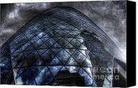 Storm Prints Canvas Prints - The Gherkin - Neckbreaker View Canvas Print by Yhun Suarez