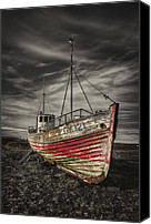 Derelict Canvas Prints - The Ghost Ship Canvas Print by Evelina Kremsdorf