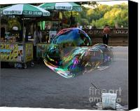 Woman In Water Photo Canvas Prints - The Giant Bubble at Bethesda Terrace Canvas Print by Lee Dos Santos