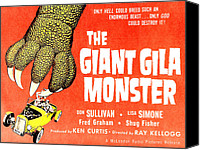 1950s Poster Art Canvas Prints - The Giant Gila Monster, Half-sheet Canvas Print by Everett
