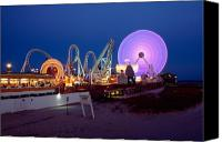 Jersey Shore Canvas Prints - The Giant Wheel at Night  Canvas Print by George Oze
