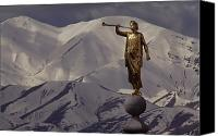 Angel Moroni Canvas Prints - The Gilded Statue Of The Angel Moroni Canvas Print by James P. Blair