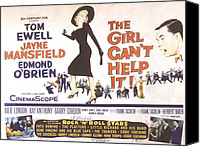 1956 Movies Canvas Prints - The Girl Cant Help It, Jayne Mansfield Canvas Print by Everett