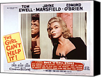 1956 Movies Canvas Prints - The Girl Cant Help It, Tom Ewell, Jayne Canvas Print by Everett