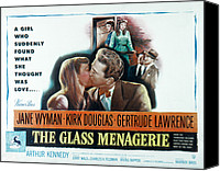 1950 Movies Canvas Prints - The Glass Menagerie, Jane Wyman, Kirk Canvas Print by Everett