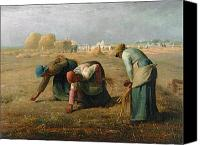 Women Canvas Prints - The Gleaners Canvas Print by Jean Francois Millet