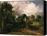 Donkey Painting Canvas Prints - The Glebe Farm Canvas Print by John Constable
