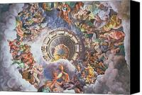 Fresco Canvas Prints - The Gods of Olympus Canvas Print by Giulio Romano