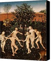 Couples Canvas Prints - The Golden Age Canvas Print by Lucas Cranach