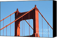Structural Canvas Prints - The Golden Gate Bridge Up Close . San Francisco California . 7D14537 Canvas Print by Wingsdomain Art and Photography