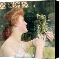 Alma-tadema; Sir Lawrence (1836-1912) Canvas Prints - The Golden Hour Canvas Print by Sir Lawrence Alma-Tadema