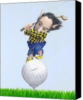 Leonard Filgate Canvas Prints - The Golfer Canvas Print by Leonard Filgate