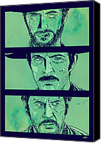 Clint Eastwood Canvas Prints - The Good the Bad and the Ugly Canvas Print by Giuseppe Cristiano