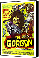 Horror Fantasy Movies Photo Canvas Prints - The Gorgon, Prudence Hyman Canvas Print by Everett