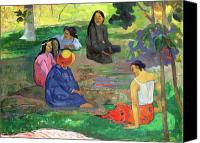 Chat Canvas Prints - The Gossipers Canvas Print by Paul Gauguin