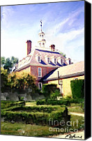 Sky Canvas Prints - The Governors Mansion Canvas Print by Methune Hively