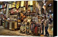 Turkey Photo Canvas Prints - The Grand Bazaar in Istanbul Turkey Canvas Print by David Smith