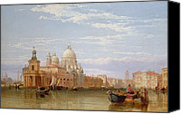 Architecture Painting Canvas Prints - The Grand Canal - Venice Canvas Print by George Clarkson Stanfield