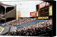 Cleveland Stadium Canvas Prints - The Grand Finale Canvas Print by Kenneth Krolikowski