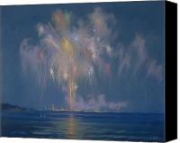 Independence Day Painting Canvas Prints - The Grand Finale Canvas Print by Lendall Pitts