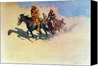 Remington Canvas Prints - The Great Explorers Canvas Print by Frederic Remington