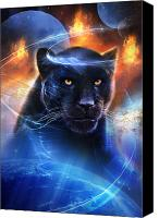 Mystical Canvas Prints - The Great Feline Canvas Print by Philip Straub