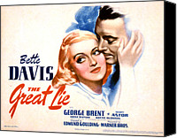 Caress Canvas Prints - The Great Lie, Bette Davis, George Canvas Print by Everett