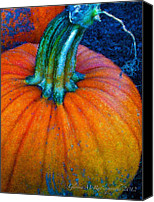 D.c. Digital Art Canvas Prints - The Great Pumpkin Canvas Print by Glenna McRae