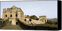 Terra Cotta Digital Art Canvas Prints - The Great Wall of China Canvas Print by Glennis Siverson