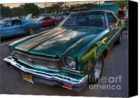 Custom Grill Canvas Prints - The Green Machine - Chevrolet Chevelle  Canvas Print by Lee Dos Santos