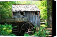 Old Mill Pigeon Forge Canvas Prints - The Grist Mill Canvas Print by Barry Jones