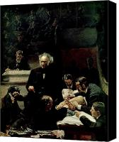 1875 Canvas Prints - The Gross Clinic Canvas Print by Thomas Cowperthwait Eakins