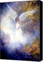 Guardian Angel Canvas Prints - The Guardian Canvas Print by Marina Petro
