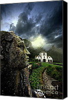Foreboding Canvas Prints - The Guardian Canvas Print by Meirion Matthias
