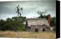 Old Abandoned House Canvas Prints - The Guardian Canvas Print by Mike Irwin