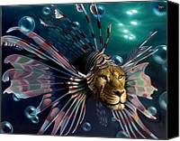 Lionfish Canvas Prints - The Guardian Canvas Print by Patrick Anthony Pierson